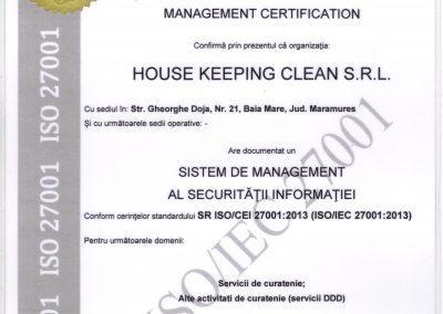 ISO 27001 - Securitatea informatiei RO